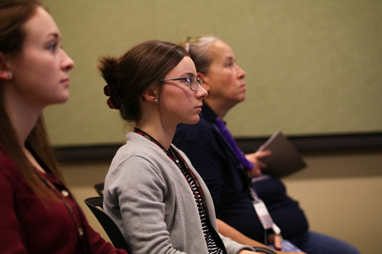 Attendees during a breakout session